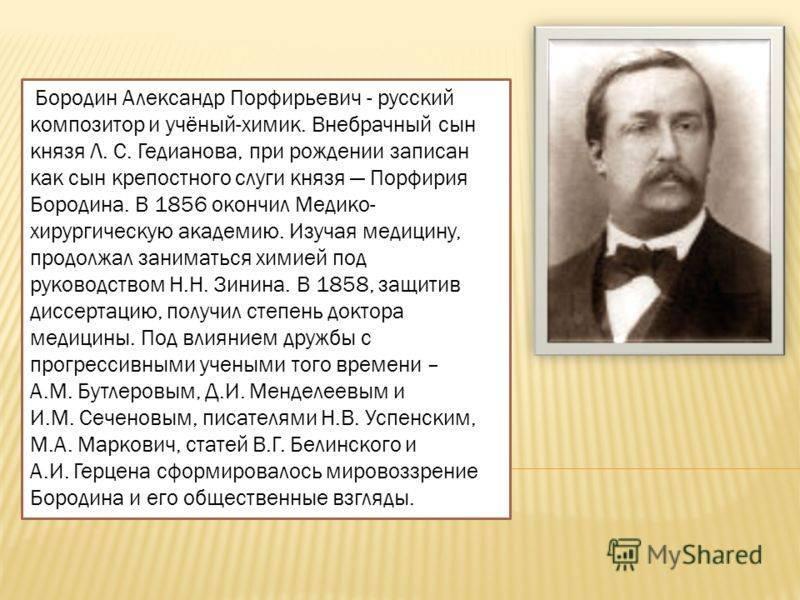Бородин, александр порфирьевич - вики