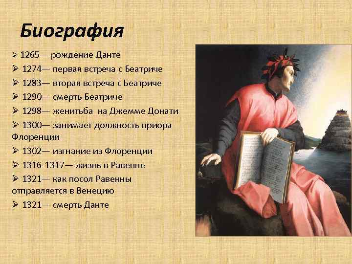 Данте алигьери: биография и творчество :: syl.ru