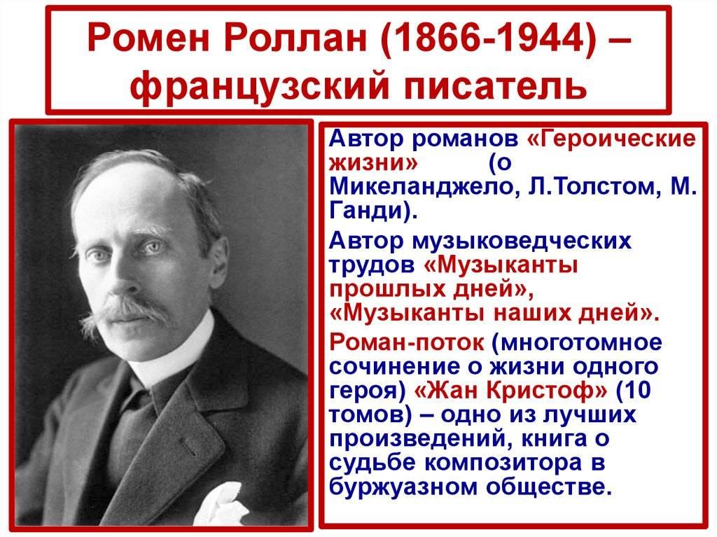 Ромен роллан - биография, информация, личная жизнь