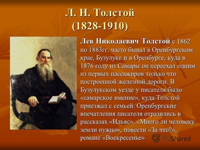 Краткая биография льва николаевича толстого и его история успеха