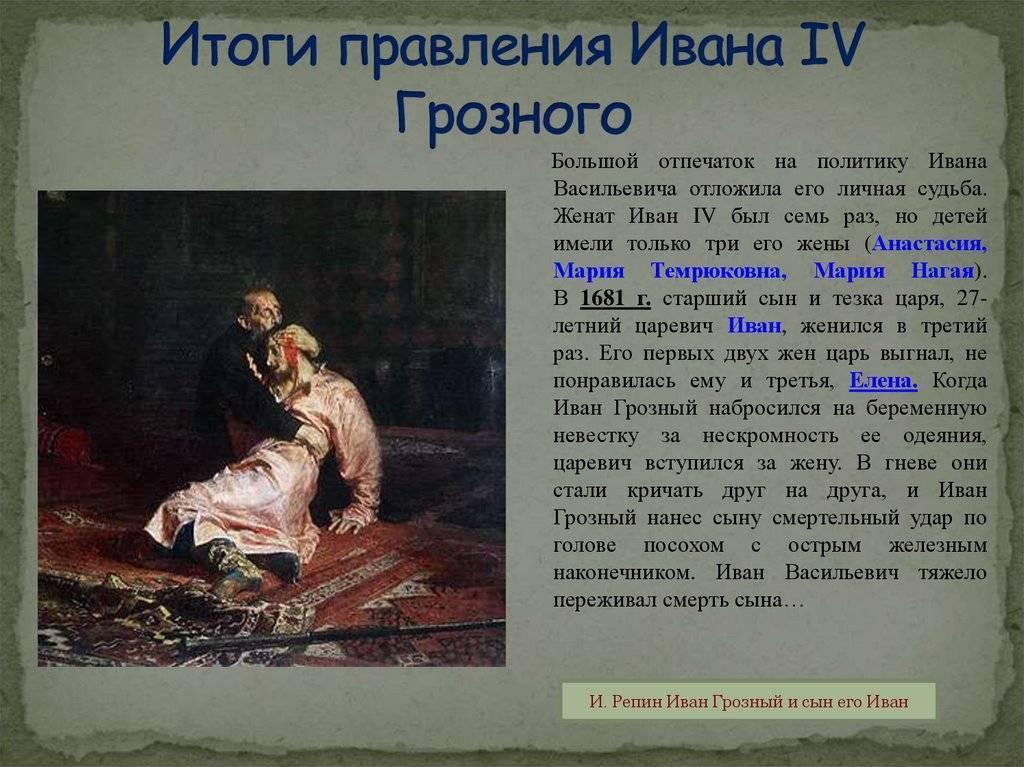 Семья ивана iv грозного  портреты и биографии родственников императора