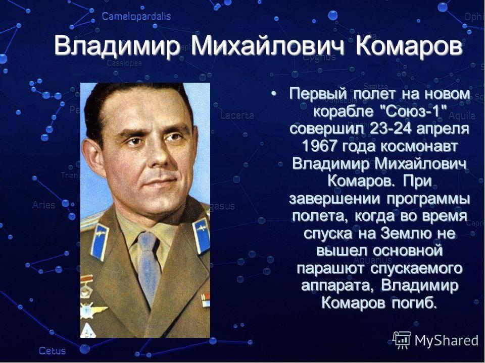 Владимир михайлович комаров — краткая биография | краткие биографии