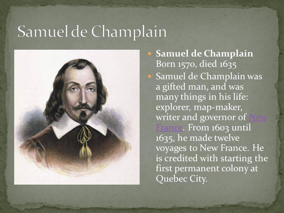 Шамплен, самюэль де