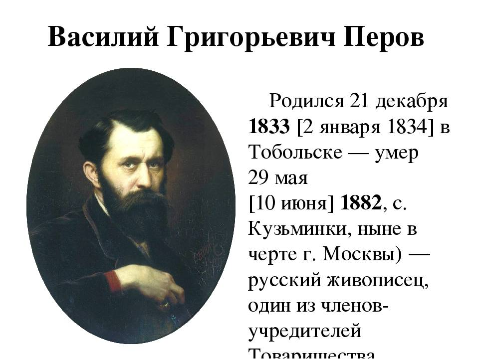 Оценка, продажа и реализация картин в.г. перова