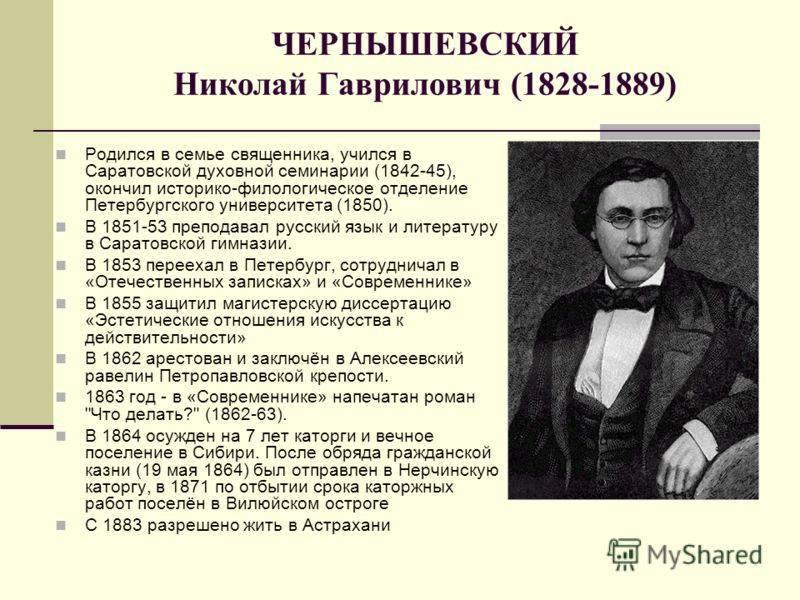 Биография чернышевского
