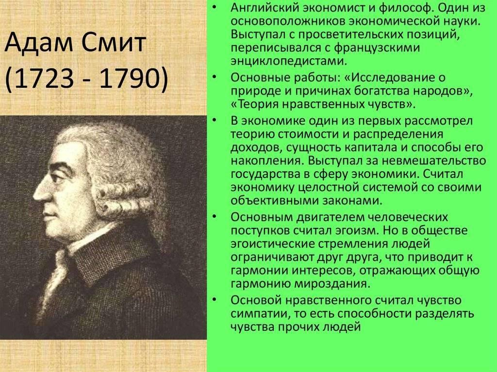 Смит, адам — википедия