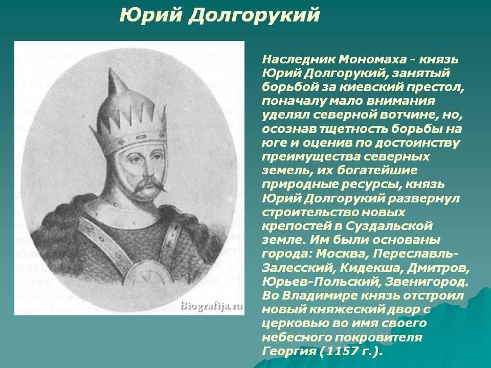 Семья князя юрия долгорукого - портреты и биографии родственников