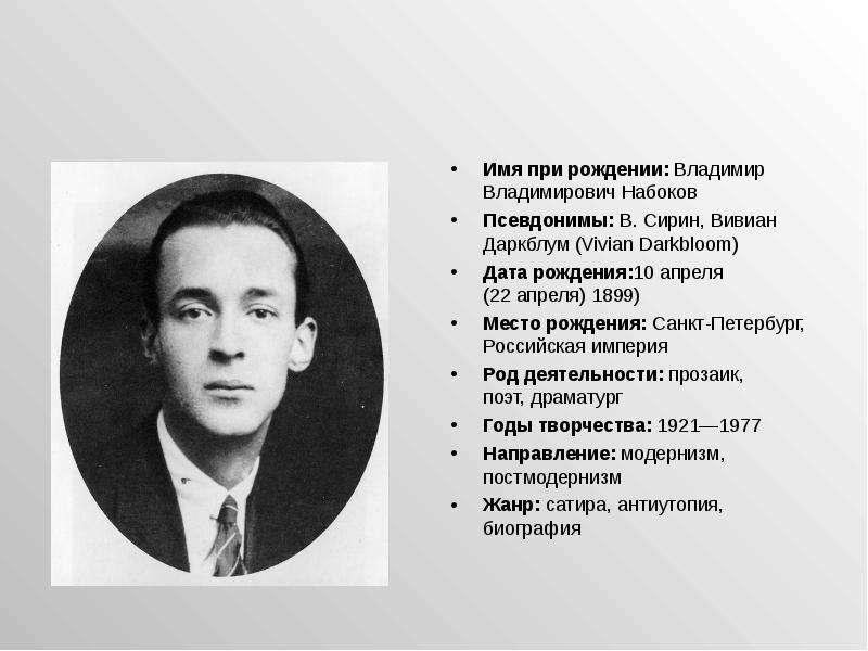Биография набокова