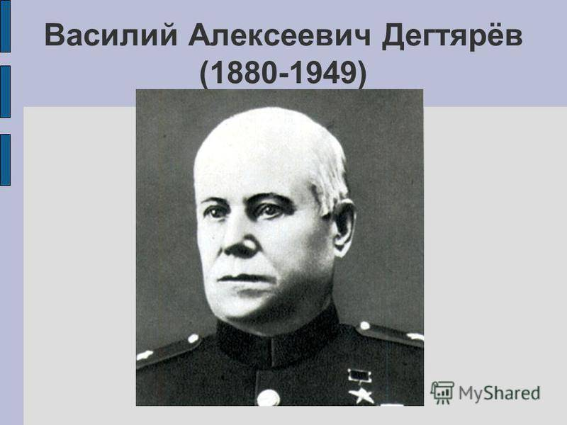 Дегтярёв василий алексеевич