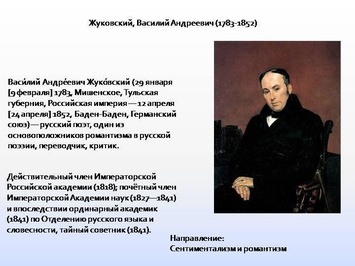 Жуковский, василий андреевич | русская литература вики | fandom