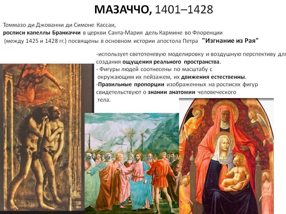 Мазаччо - художники