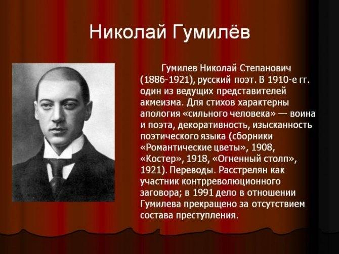 Биографияниколая степановичагумилева