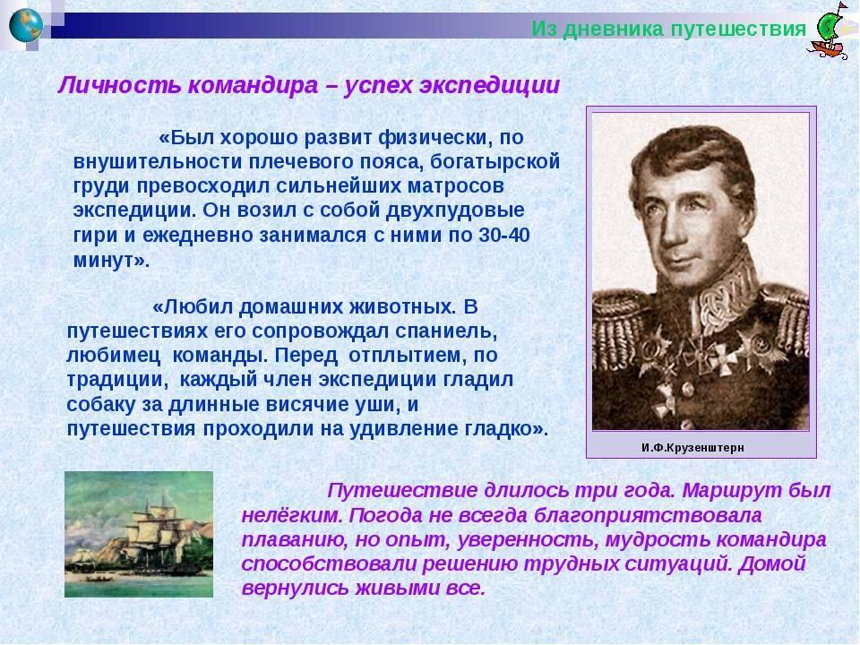 Биография Ивана Крузенштерна