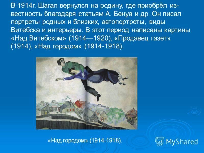 Самые известные картины шагала