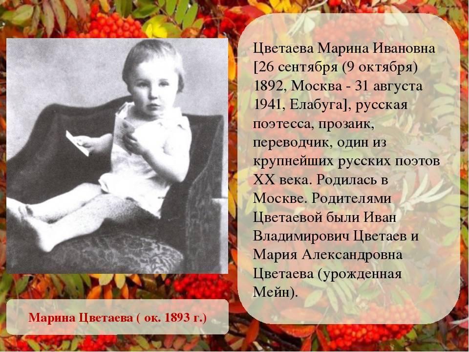Кратко о биографии марины цветаевой: жизнь и творчество поэтессы