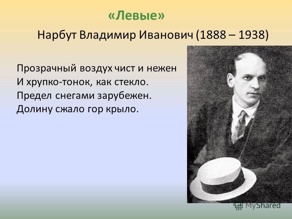 Нарбут, владимир иванович биография