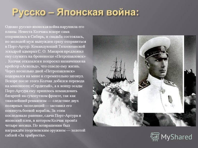 Краткая биография колчака александра васильевича