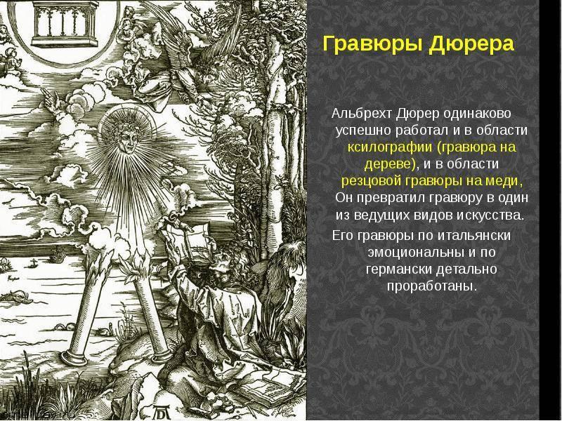 10 самых известных картин альбрехта дюрера