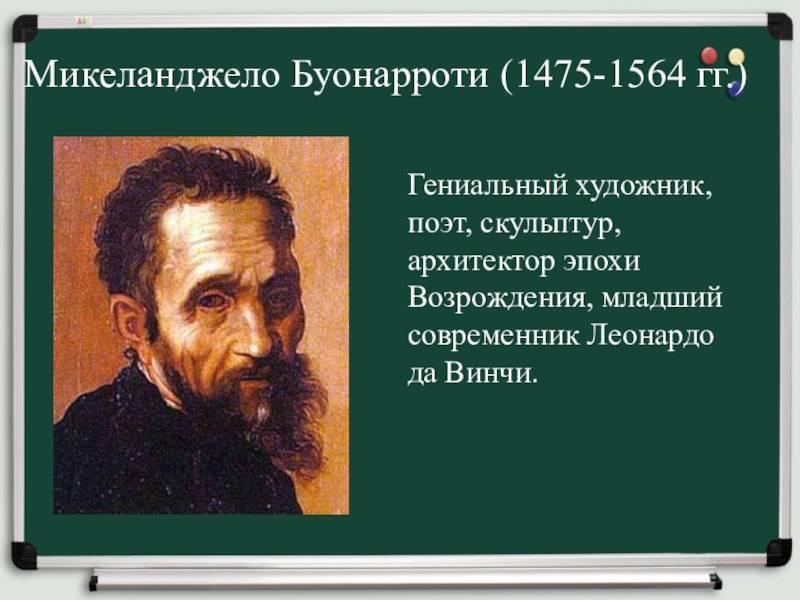 Микеланджело: биография и творчество художника - nacion.ru