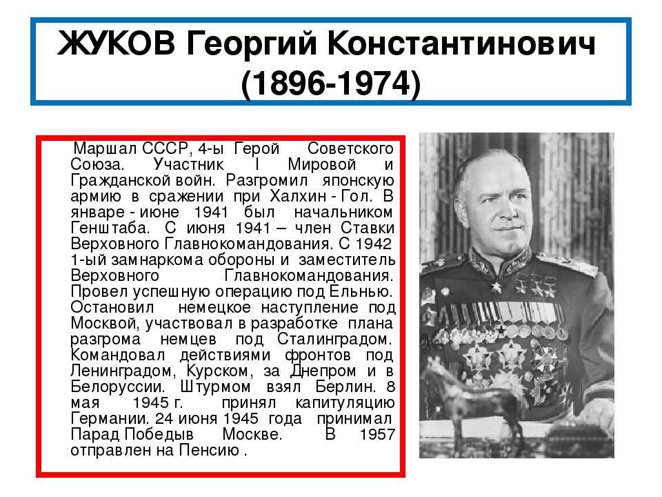 Биография жукова георгия константиновича
