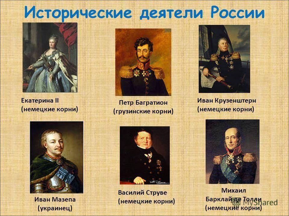 Выдающиеся государственные деятели, полководцы россии