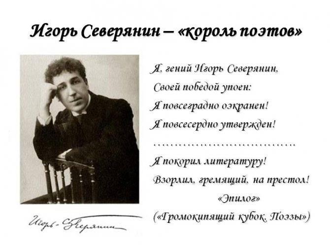 Игорь северянин краткая биография, творчество и интересные факты о поэте