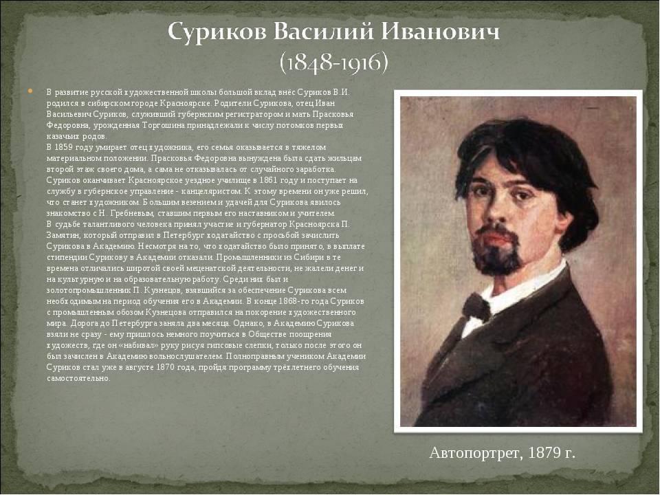 Василий суриков - биография