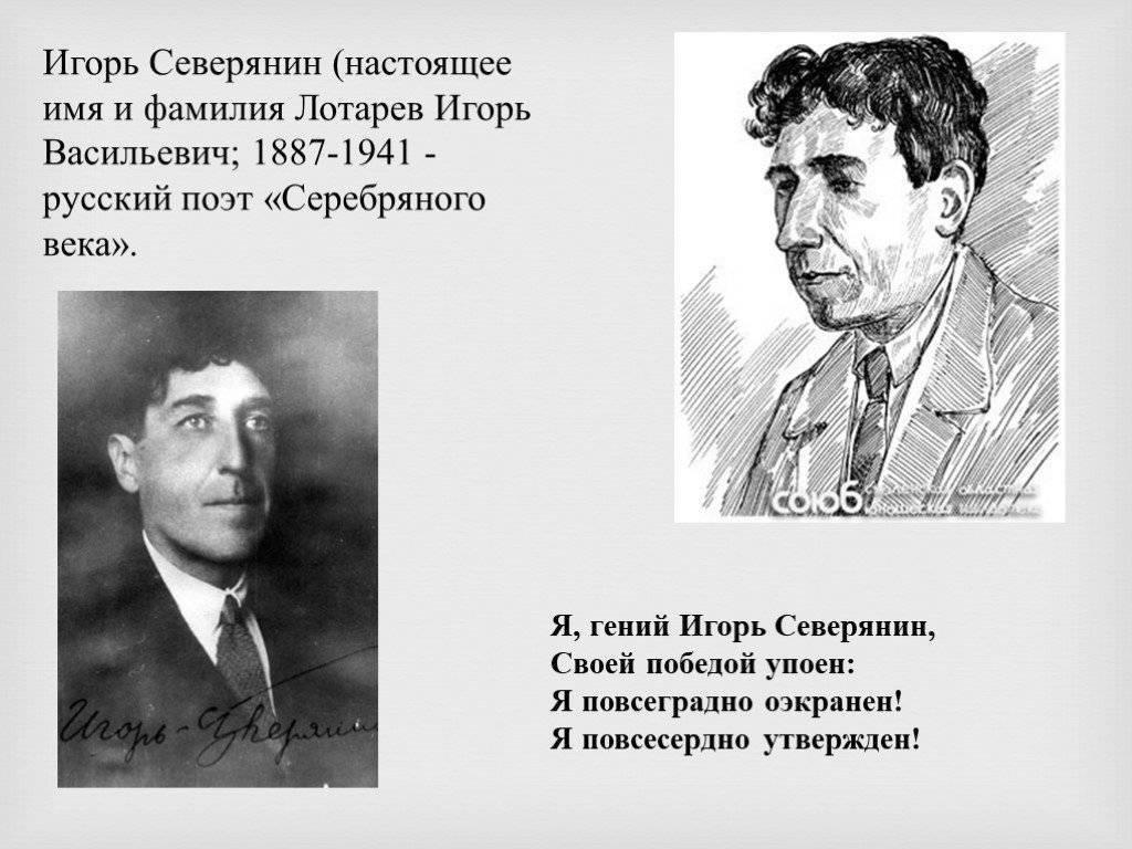 Краткая биография игоря северянина самое главное